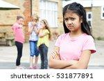 unhappy girl being gossiped... | Shutterstock . vector #531877891