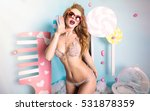 beauty fashion model girl... | Shutterstock . vector #531878359