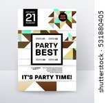 invitation disco party poster... | Shutterstock .eps vector #531880405