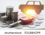 pile of money coins and key ...   Shutterstock . vector #531884299