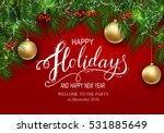 holidays greeting card for... | Shutterstock .eps vector #531885649