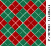 Red Green White Chess Board...