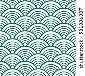 indigo white green traditional... | Shutterstock .eps vector #531886387