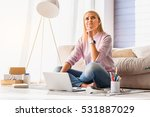 young woman making serious... | Shutterstock . vector #531887029
