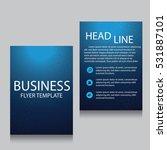 vector brochure flyer design... | Shutterstock .eps vector #531887101