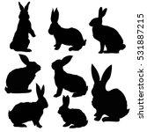 silhouette rabbit   vector ... | Shutterstock .eps vector #531887215