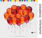 birthday party vector...   Shutterstock .eps vector #531889435
