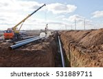 construction work on the pipe... | Shutterstock . vector #531889711