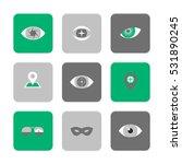 vector flat icons set   eyes...   Shutterstock .eps vector #531890245