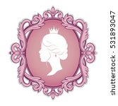 elegance pink cameo with... | Shutterstock .eps vector #531893047