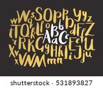 female gold lettering alphabet. ... | Shutterstock .eps vector #531893827