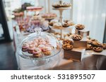 sweet bar with muffins cakes... | Shutterstock . vector #531895507