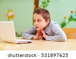 young boy with special needs... | Shutterstock . vector #531897625