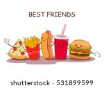fast food. vector illustration... | Shutterstock .eps vector #531899599