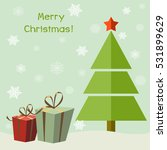 christmas tree with gifts.... | Shutterstock .eps vector #531899629