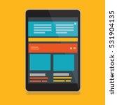 tablet pc design clean vector | Shutterstock .eps vector #531904135