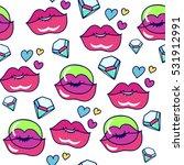 glamour comic seamless vector... | Shutterstock .eps vector #531912991