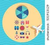 summer holidays on beach vector ... | Shutterstock .eps vector #531913129