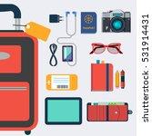 business travel vector flat... | Shutterstock .eps vector #531914431