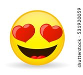 emoji in love. emotion of... | Shutterstock .eps vector #531920059