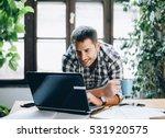 modern home office concept for... | Shutterstock . vector #531920575