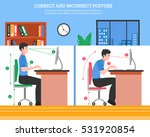 young man demonstrating correct ... | Shutterstock .eps vector #531920854