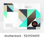 geometric background template... | Shutterstock .eps vector #531924655