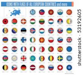 a set of icons with flags of... | Shutterstock .eps vector #53192605