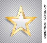 golden white star with... | Shutterstock .eps vector #531932929