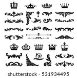 ornate scroll and decorative... | Shutterstock .eps vector #531934495