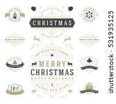 christmas labels and badges... | Shutterstock .eps vector #531935125