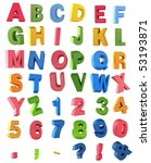 multicolor alphabet | Shutterstock . vector #53193871