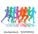 a group of runners  3d... | Shutterstock . vector #531939451