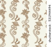 hand drawn seamless pattern of... | Shutterstock .eps vector #531944494