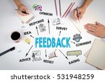 feedback concept. the meeting... | Shutterstock . vector #531948259
