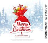 christmas greeting card. merry... | Shutterstock .eps vector #531951949