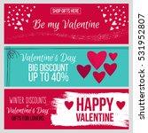 set od modern flat valentine's... | Shutterstock .eps vector #531952807