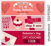 set od modern flat valentine's... | Shutterstock .eps vector #531952837