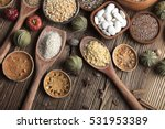 healthy food and diet theme.... | Shutterstock . vector #531953389
