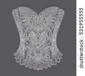 vintage lace corset | Shutterstock .eps vector #531955555