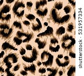 Stock vector stylized leopard print wallpaper vector repeat pattern 531957334