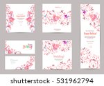 romantic collection of greeting ... | Shutterstock .eps vector #531962794