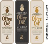 set vector label for olive oil... | Shutterstock .eps vector #531963895