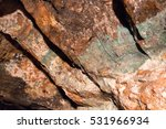 copper ore and stones in a mine | Shutterstock . vector #531966934