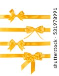 set of four golden ribbon gift... | Shutterstock . vector #531978991