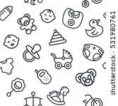 baby child kid seamless vector... | Shutterstock .eps vector #531980761