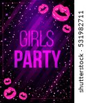 vector girls night party poster ... | Shutterstock .eps vector #531982711