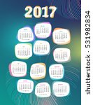 calendar for 2017 with abstract ... | Shutterstock .eps vector #531982834