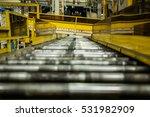 roller conveyor in automotive...   Shutterstock . vector #531982909