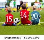 children soccer team playing... | Shutterstock . vector #531983299